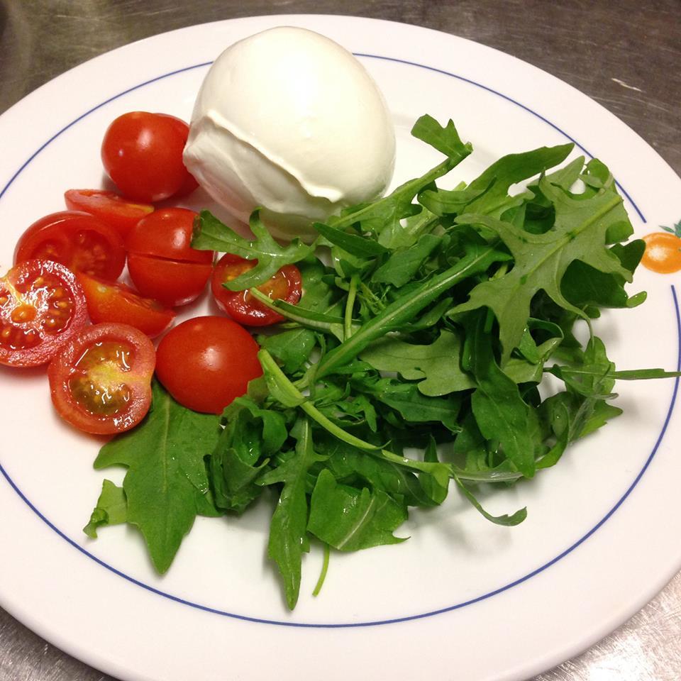 Mozzarella di Bufala di Caserta, Rucola e Pomodorini